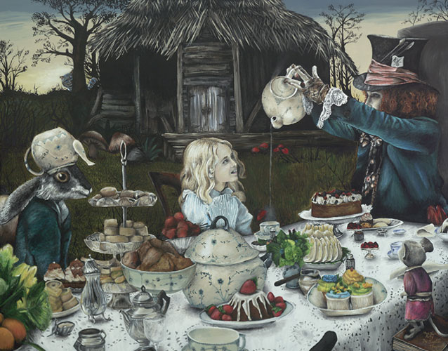 Fine Art Printing - Mad Tea Party by local artist Chrystal Moynagh