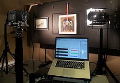 Scanning Fine Art - Scanning Back Focusing On Color
